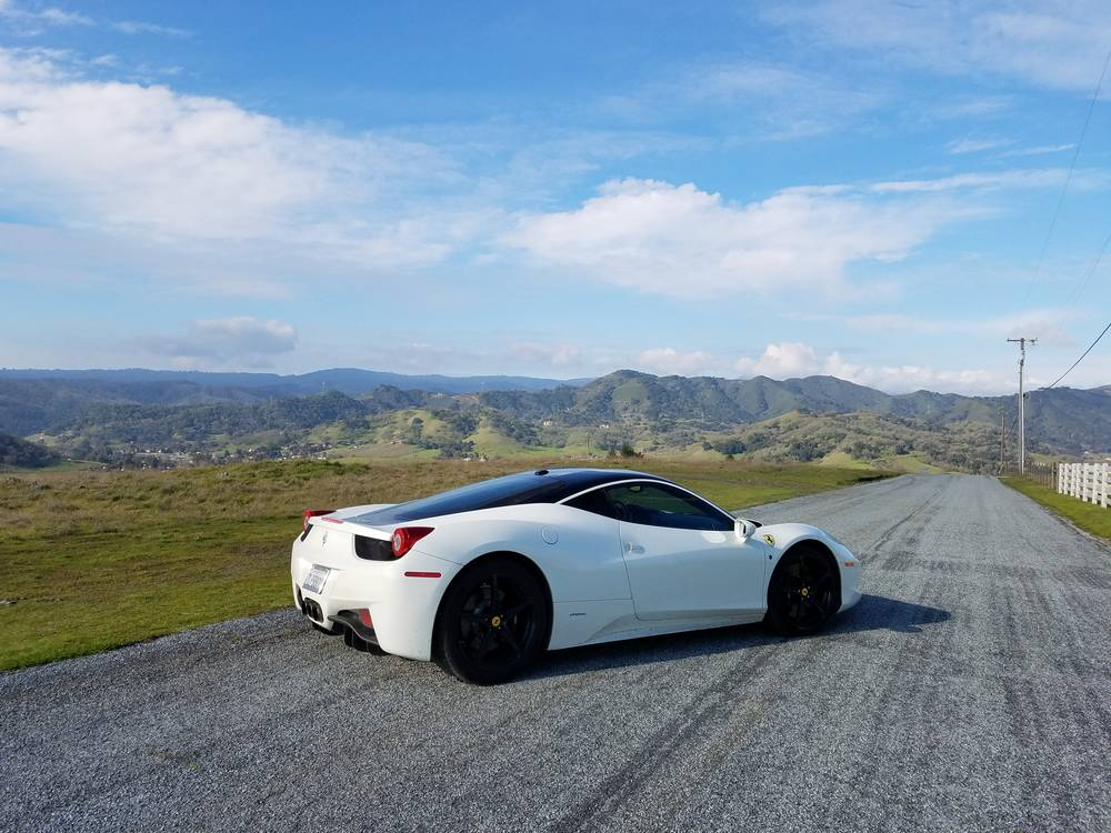 club sportiva ferrari 458 italia white coupe 3 - Ferrari 458 Blue And White