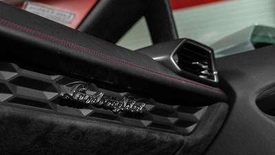 Lamborghini huracan interior accent badge