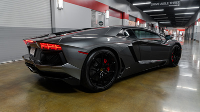 Lamborghini aventador rear iso