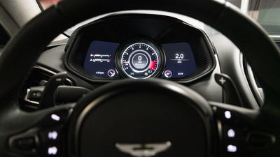 Astonmartin db11 black interior dash